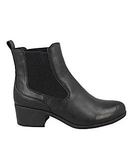 Low Block Heel Chelsea Boot Standard Fit