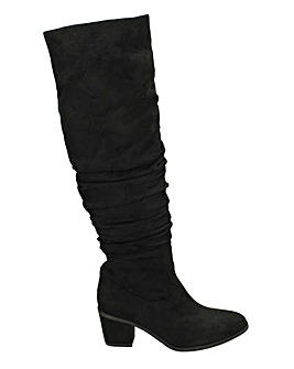 Knee High Slouch Boots Standard Fit