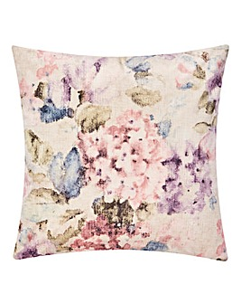 Printed Velvet Botanical Cushion
