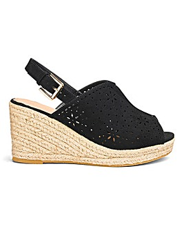 Dakota Espadrille Shoe Boot Extra Wide