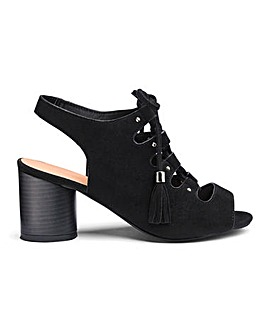 Evelyn Lace Up Shoe Boot Wide Fit