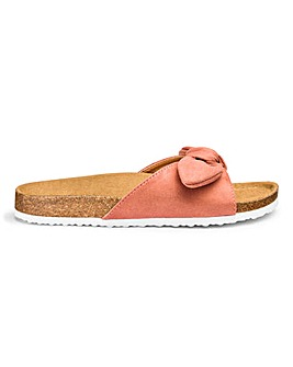 Nola Bow Footbed Sandals Wide Fit