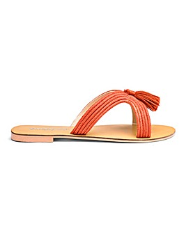 Amara Tassel Slide Wide Fit