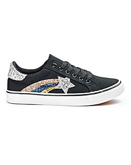 Rita Star Lace Up Trainers Wide Fit