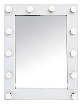 Hollywood White LED Mirror