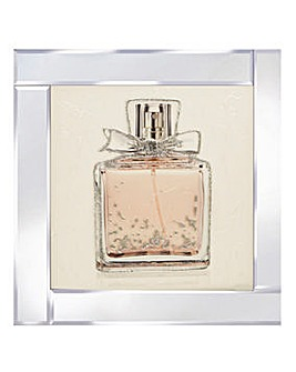 Perfume Bottle on Mirror Frame