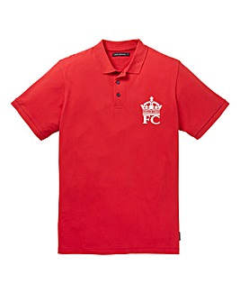 French Connection Large Crown Red Polo