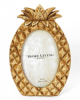 Gold Pineapple Photo Frame