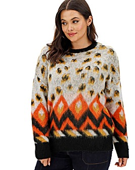 Brushed Leopard Jumper
