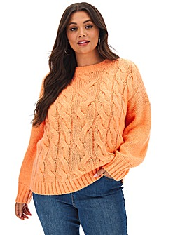 Boxy Chunky Cable Jumper