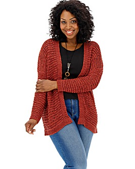 Henna Tape Yarn Cardigan