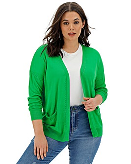 Green Lightweight Edge to Edge Cardigan