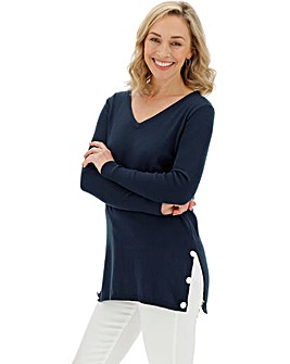 Navy Cotton Mix Tunic