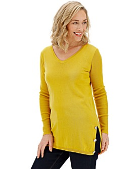 Chartreuse Cotton Mix Tunic