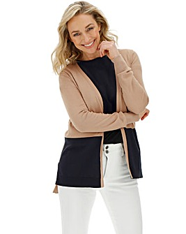 Cotton Mix Edge to Edge Cardigan