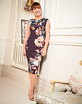 Womens Lorraine Kelly Peplum Scuba Dress
