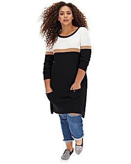 Camel Stripe Pocket Tunic
