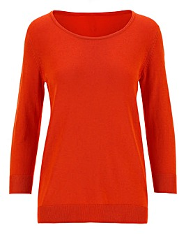 Orange Crew Neck Jumper