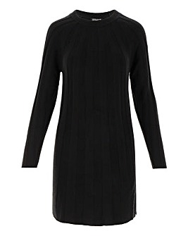 Black Cashmere like Swing Dress