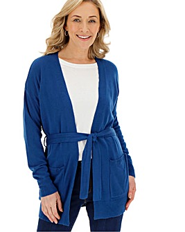 Ink Cashmere Like Belted Cardigan