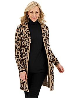 Cosy Leopard Coatigan