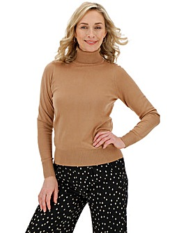 Camel Roll Neck Jumper