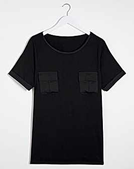 Satin Pocket T-shirt