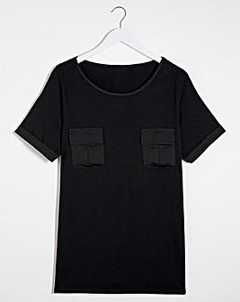 Satin Pocket T-shirt