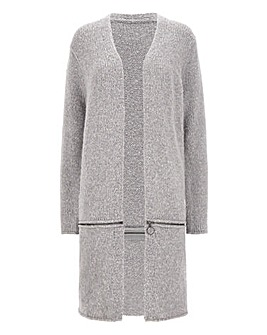 Longline Zip Off Cardigan