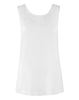 White Cotton Slub Vest
