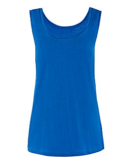 Bright Blue Cotton Slub Vest