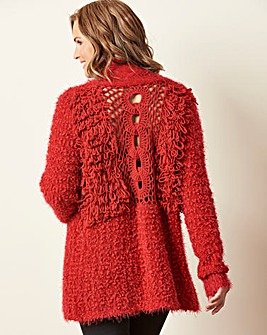 Crochet Loopback Cardigan