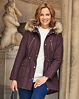 Dannimac Parka with Faux Fur Trim