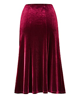 Velour Skirt 27in