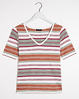 Stripe Cotton Slub T-Shirt
