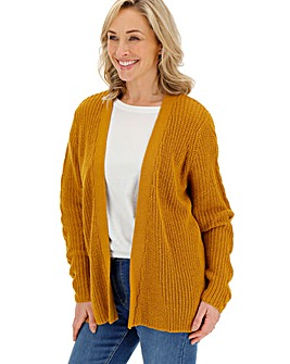 Mustard Cable Sleeve Cardigan