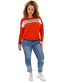 London Slogan Jumper
