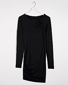 Black Gathered Side Tunic