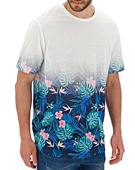Faded Floral T-Shirt Long