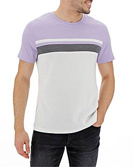 Lilac and White Birdseye T-Shirt Long