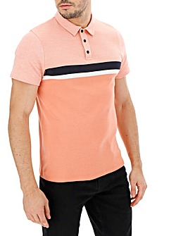 Pink Birdseye Detail Polo Long