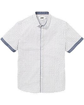 White Polka Dot Short Sleeve Shirt Long