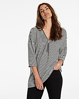 Cut And Sew Zip Front Tunic