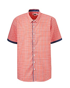 Geo Check Short Sleeve Shirt Long