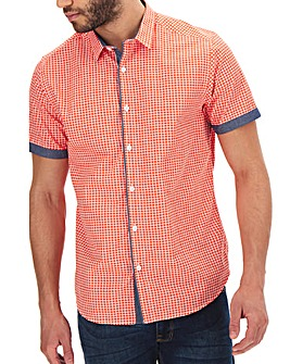 Geo Check Short Sleeve Shirt