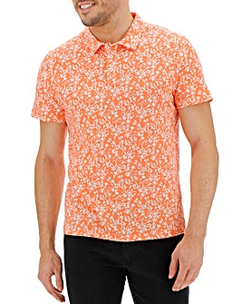 Coral Printed Polo Long
