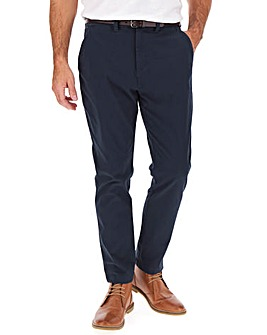Navy Belted Chino Trouser 33""