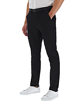 Black Belted Chino Trouser 33""