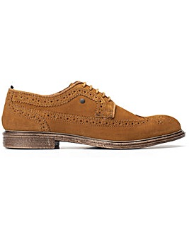 Base London Onyx Suede Lace Up Brogue