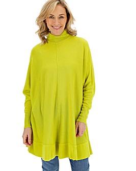 Chartreuse Cashmere like Poncho